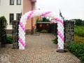 Арки та гірлянди з повітряних кульок , весільна брама