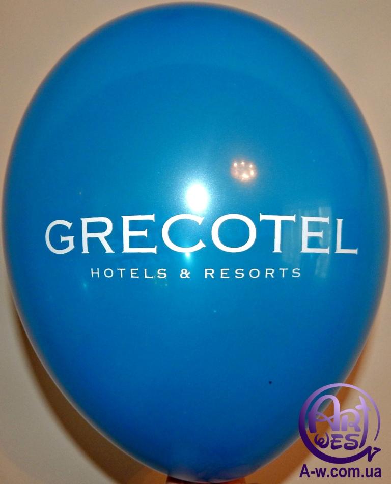 надрук логотипу на повітряну кульку